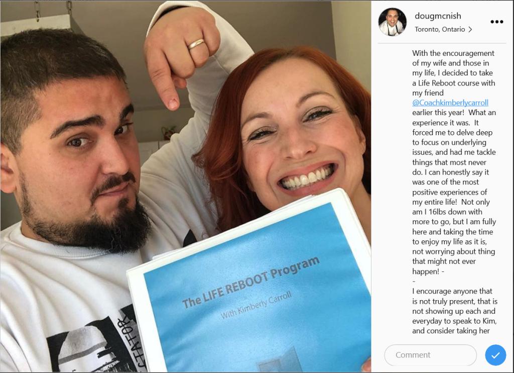Doug testimonial instagram