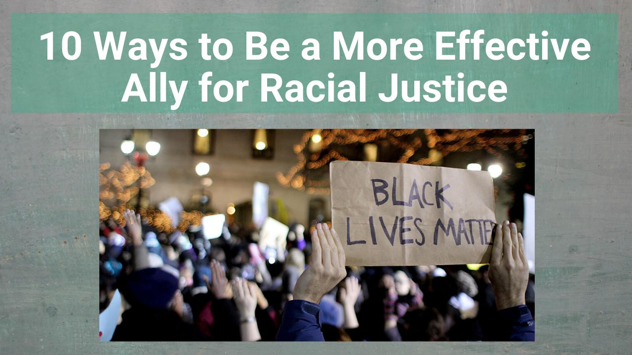 racial justice ally